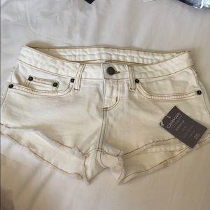 White jean shorts NEVER WORN